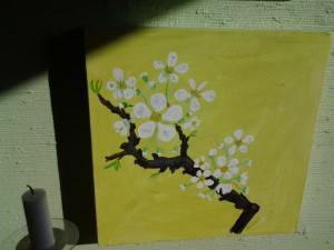 päron i blom