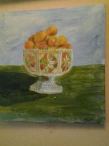 clementiner i glasskål
